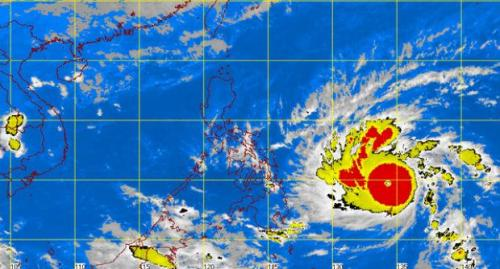 Typhoon Hagupit, a.k.a. Ruby, as of 5:32 am on Thursday, 4 December 2014. Source: Inquirer.net