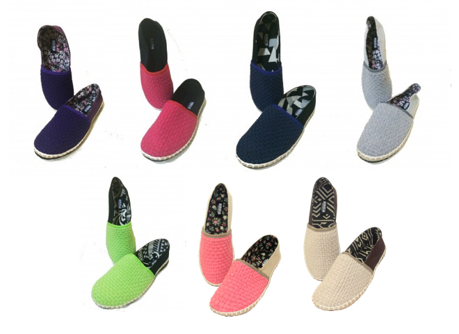 The women's line includes the men's color combos plus seven others.Photos by Habi Footwear (2014); montage by Allister Roy S. Chua (2015)