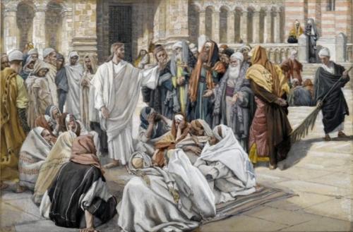 Les pharisiens questionnent Jésus (James Tissot)